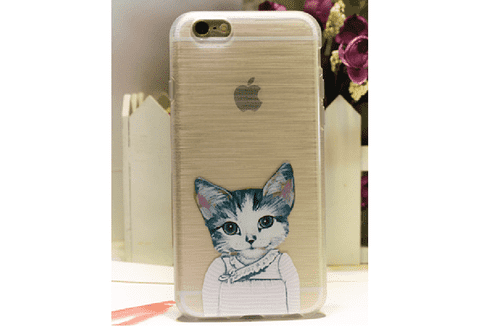 Estuche de celular Iphone 6 plus Gatos