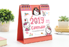Calendario Kitty Panda y Conejito 2019