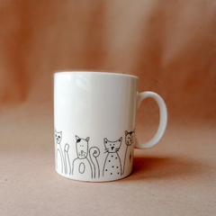 Taza Black & White Gatos en internet