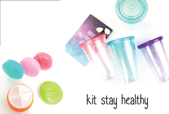 kit stay healthy - Vaso pitillo + pastillero