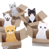kitty puppy house post it gatos