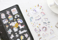 Stickers unicornios