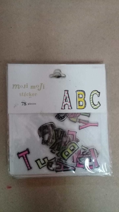 Stickers letras 78 pcs en internet