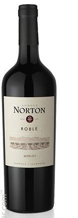 Vinho Tinto Roble Norton Merlot 2012 750 ML