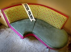 Sillón Pink Panther retro americano • chaise longue • - comprar online