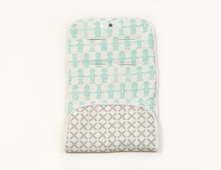 reversible stroller liner - mint friends