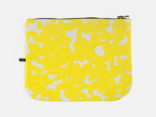 KOM purse - yellow noise