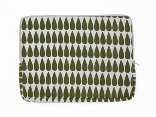 notebook sleeve - olive drop