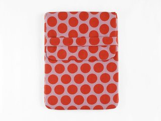 tablet case - pumpkin dots