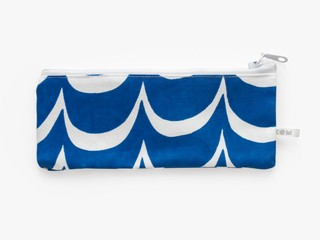 KOM pencil case - cobalt waves