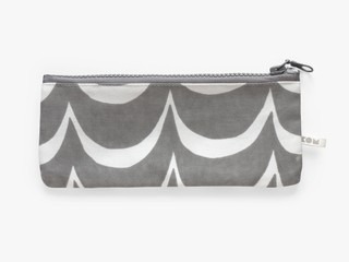KOM pencil case - gray waves