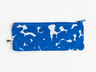 KOM pencil case - cobalt noise