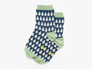 3/4 length basic socks - cream droplets