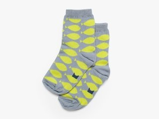 3/4 K basic socks - lime fish
