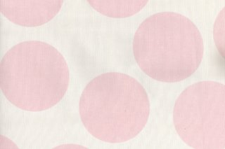 lightweight canvas - pale pink giant dots