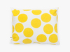cushion cover - giant yellow dots