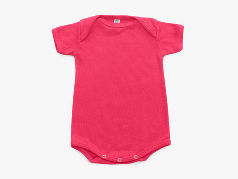 short sleeved bodysuit - solid magenta