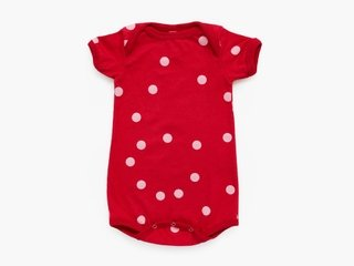 short sleeved bodysuit - pink dots