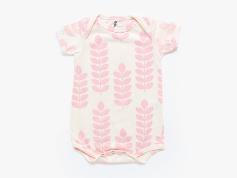 short sleeved bodysuit - rose stem