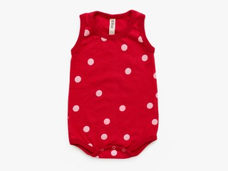 baby sleeveless bodysuit - pink dots