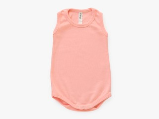 baby sleeveless bodysuit - solid pink