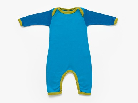 baby long sleeved bodysuit - sky colour blocks