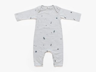 baby long sleeved bodysuit - cement notebook