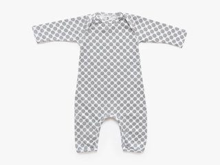 baby long sleeved bodysuit - cement dots