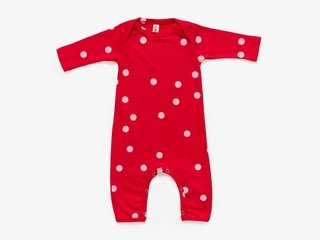 baby long sleeved bodysuit - pink dots
