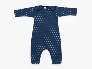 baby long sleeved bodysuit - cement microdots