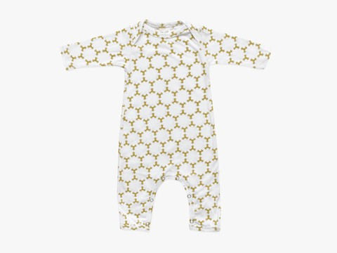baby long sleeved bodysuit - olive star