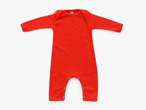 baby long sleeved bodysuit - solid pumpkin