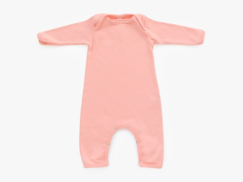 baby long sleeved bodysuit - solid pink