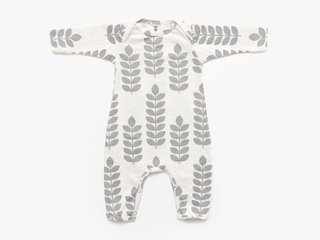 baby long sleeved bodysuit - cement stem