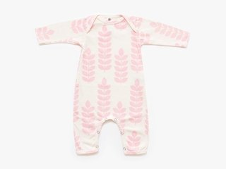 baby long sleeved bodysuit - rose stem