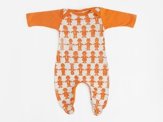 baby long sleeved bodysuit - newborn - orange friends