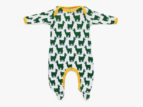baby long sleeved bodysuit - newborn - forest lama