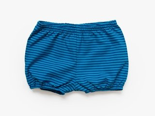 baby shorts - indigo stripes