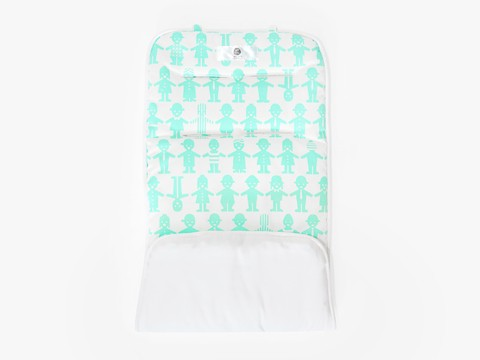 reversible stroller liner - basic mint friends