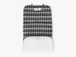reversible stroller liner - black drop