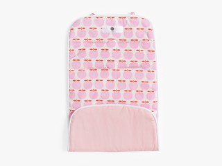 reversible stroller liner - pink apples