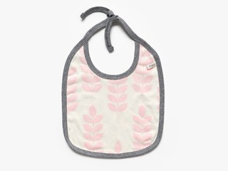 reversible baby bib - rose stem