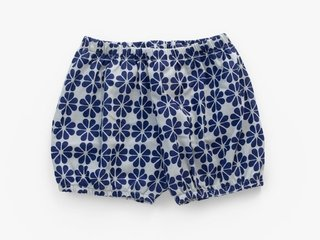 baby shorts - indigo japanese flower
