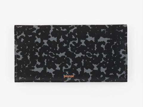 L wallet - graphite noise