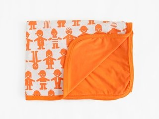 reversible blanket - orange friends