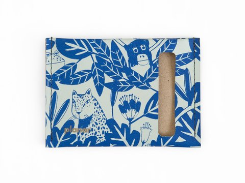 mini wallet - blue rainforest