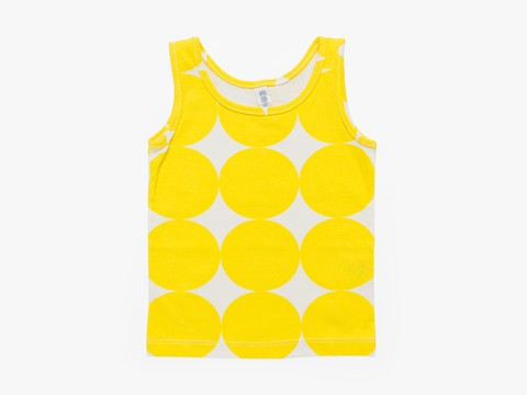 tank-top - yellow big circles