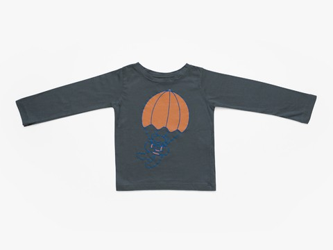 long sleeved t-shirt - graphite bear cobalt