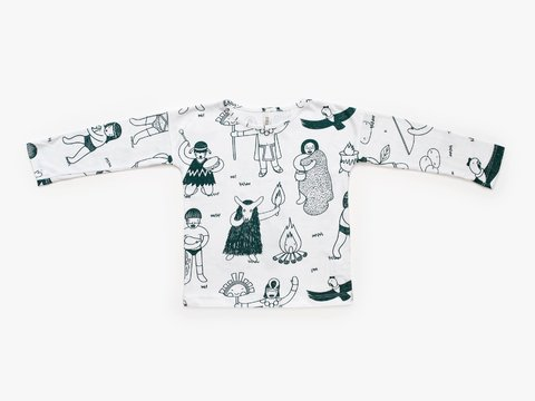 remera manga larga - pueblos bosque