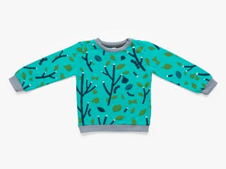 fleece sweatshirt - indigo twigs